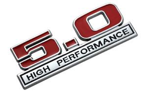 2pcs 5.0 High Performance Chrome for Ford Boot Rear Side Fender Badge Emblem