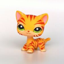 #1451 Littlest Pet Shop standing Short Hair cat LPS toys original EUROPEAN