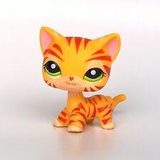 Littlest Pet Shop EUROPEAN standing Short Hair cat #1451 LPS cat yellow kitty