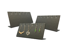 5pc Earring Displays 3 Pair Earring Displays Grey Faux Leather Displays Lots 5Pc