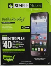 SIMPLE Mobile - Alcatel Pixi Glory 4G LTE  8GB Memory Cell Phone - NEW