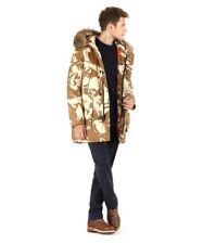 Woolrich Men's Tech Camo Arctic Parka 800 Down Fill Coyote Fur Hood $1200 NWT L