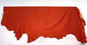 Lederhaut Rindnappaleder geprägt genarbt Farbe Dunkel-Orange weich 5,84 qm