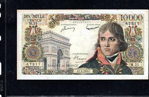 Billet 10000 Francs Bonaparte 07/06/56 TTB+ Fay 51-03