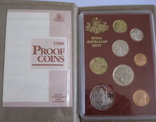 """1988 """" Bicentennial """" 8 Coin Proof Set Includes the First Year of Issue $2 Coin"""