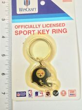 Vintage 1990s Pittsburgh Steelers Helmet Keychain Sealed In Orignal Packaging