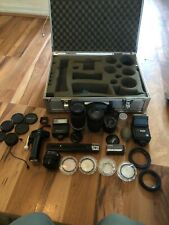 Box Of Vintage Camera Lenses & Accessories