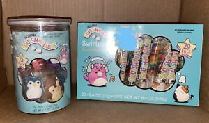 SQUISHMALLOW BIRTHDAY CANDY RINGS AND LOLLIPOP SWIRLS SET NEW