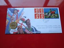 1999 Cardiff Rufby World Cup BUNC  £2 Two Pound Coin And Stamp FDC PNC Wales