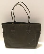 FRYE LEATHER SIDE POCKET TOTE, OLIVE