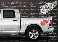 Detroit Red Wings Decals x2 Truck Decal Car Vinyl Sticker Hockey team Graphics