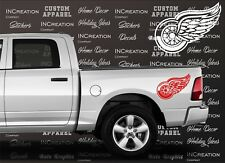 Detroit Red Wings 2 Truck Car Vinyl Decals, NHL Sticker, Hockey team banner logo