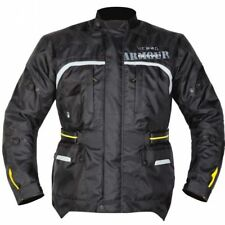 NEW GMAC PILOT 100% WATERPROOF / ARMOURED TEXTILE JACKET BLACK size XXL RP £119