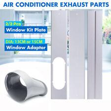 New listing Portable Adjustable Window Kit Slide Plate Adaptor Wind Shield Tube Connector