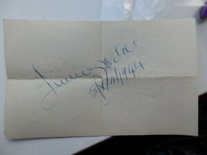 JIMMY  WILDE  -  WORLD  CHAMPION BOXER   -  AUTOGRAPH  - 1944