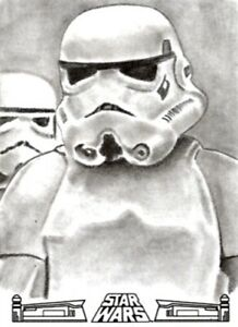 Star Wars 40th Anniversary Sketch Card, Stormtrooper by Stephanie Swainger