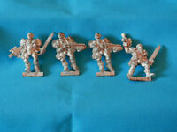 A3  WARHAMMER 40K SPACE MARINES ARMY - 4 X SCOUTS  OOP  METAL MODELS