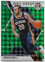 2019-20 Panini Mosaic Mosaic Green #279 Nicolo Melli RC - New Orleans Pelicans