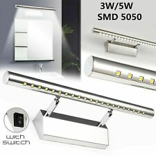 3/5W Stainless Steel LED Bathroom Mirror Front Picture Wall Light Bar Lamp White