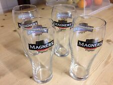 MAGNERS IRISH CIDER PINT GLASSES x4