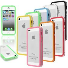 BUMPER CUSTODIA CASE COVER TRASPARENTE CRYSTAL FOR APPLE IPHONE 5 5S