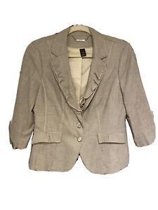 White House Black Market beige Blazer size 10