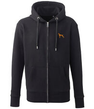 More details for vizsla clothing gifts embroidered organic full zip hoodie
