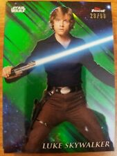 2018 Topps Star Wars Finest #61 Luke Skywalker GREEN Refractor #23/99 NM-Mint