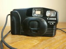 Canon Snappy LX 35mm FILM AA Batteries BLACK With Wristlet USED CAMERA