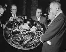 Lyndon Johnson LBJ looks at TIROS-1 weather satellite 1960 New 8x10 Photo