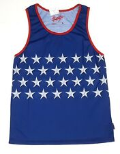 Brooklyn Cloth Men's Tank Top Sz L Red White Blue Stars Stripes Patriotic New
