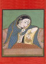 A Melancholy Courtesan, Rajput, circa. 1750, Classic Indian Art Poster