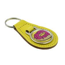 Yellow & Pink Doughnut Design Keyring XKFR023