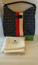 Kate Spade Handbag / Purse Serena Noel Red White & Blue Canvas Hobo NWOT