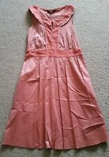 Cotelac gorgeous French red sun dress size 10 - 12 as new condition