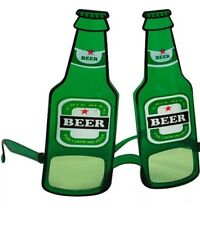 Fancy Dress Alcohol Glasses Novelty Green Beer Bottle Stag Do Fun Dutch Lager
