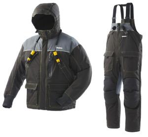 Frabill I3 Jacket & Bib Rain & Ice Fishing Suit, Black, 3X-Large Combo