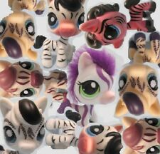 Littlest Pet Shop Lot of 3 Random Zebra Stripes Animal Figures Surprise Lps