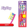 Colgate ZigZag Toothbrush - SOFT zig zag bristles - 3 PC PACK