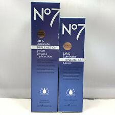 No7 Lift & Luminate Triple Action Serum ~50ml/1.69fl.oz~30ml/1fl.oz NEW;YOU PICK