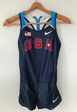 NEW USATF USA Track Field Speedsuit Singlet NIKE Running Womens Bodysuit Suit M
