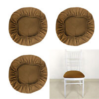 4 Set Durable Bar Stool Cover Round Washable Chair Seat Cushion Slipcovers
