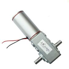 DC 24V 40RPM 18W 20KG.cm High Torque 10mm Double Shaft Low Speed Gear Box Motor