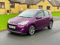 2015 (65) CITROEN C3 SELECTION 1.2 PETROL, PURPLE, 5 DOOR, 35,000 MILES, £20 TAX