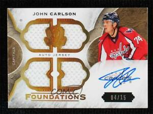 2015-16 Upper Deck The Cup Foundations Quad Jersey 4/15 John Carlson #CF-JC Auto