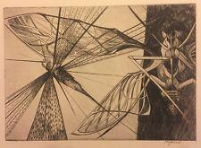 "Walter Rogalski ""Locust"" Engraving 1954 Signed"