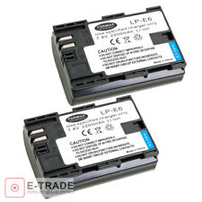 2x LP-E6 2200mAh INFOCHIP Battery for Canon EOS 5D Mark II III 5DS 6D 60D 7D 70D