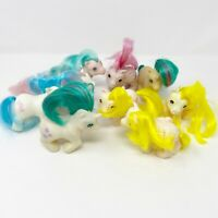 Vintage My Little Pony G1 Bait Lot of 9 Baby Beddy Bye Eyes MLP Babies