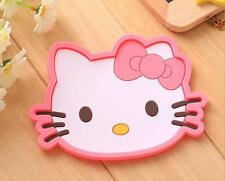 2pcs/set Cut Cartoon Hello Kitty Silicone Cup Coaster Mat Pad