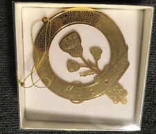 "24 Kt Gold Plated Flower Belt Wreath Christmas Ornament ""The Eagle'S Edge"" 1989"
